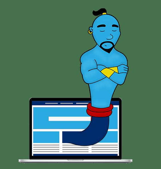 Geniolampada - Web design